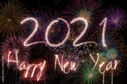 Fotografía 2021 New Year fireworks background
