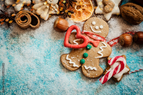 Fotografiet gingerbread cookies