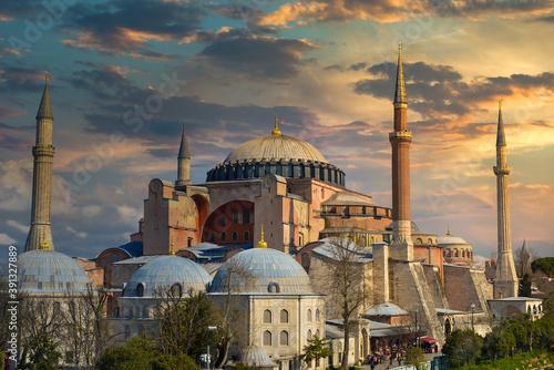 Dusk and Hagia Sophia Fototapeta