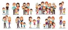 Cartoon Family Characters. Mot...