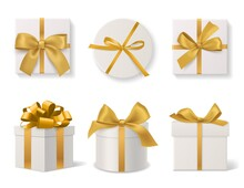 Realistic Decorative Gift Boxe...