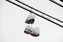 Shoes On A Telephone Pole