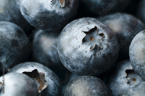 Canvas Print blueberry berry health and diets close-up macro