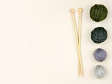 Wooden Knitting Needles Lying ...