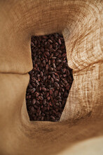 Linen Sack With Cocoa Beans