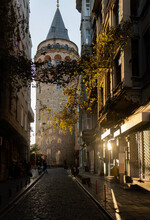 Galata Tower In Istanbul Early In The Morning