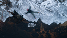 Young Man On A Melting Ice Floe