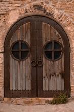 Large Wooden Door In Old Georg...