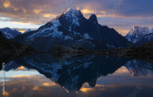 Aiguille Verte and Reflection