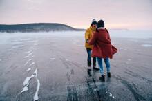 Winter Lake And A Couple Of Yo...