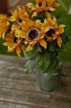 Summer Sunflowers In A Glass V...
