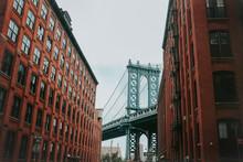 Manhattan Bridge From Dumbo In New York City, USA