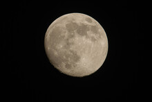Moon Partly Seen In The Night Sky
