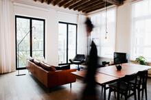 Modern Loft Interior With Blac...