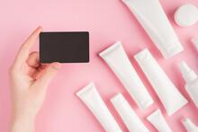 Cosmetics Shop Voucher Concept...