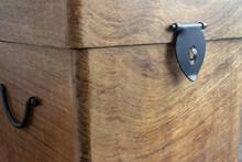 Old Wooden Locking Box Showing...