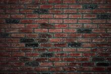 Red Brick Texture In Dark Colors