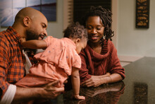 African American Mom And Dad S...