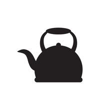 Tea Pot Icon Logo Design Templ...