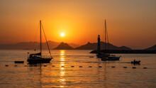 Beautiful Sunset Over Islands ...