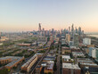 Aerial Views of Chicago Skyline