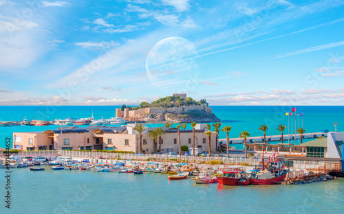 Pigeon Island with a Pirate castle Canvas