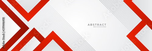 Modern red white abstract banner background. Vector illustration design for presentation, banner, cover, web, flyer, card, poster, wallpaper, texture, slide, magazine