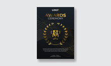 Award Ceremony Invitation Flyer Poster Template.