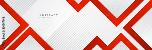 Modern red white abstract banner background with red square lines. Vector illustration design for presentation, banner, cover, web, flyer, card, poster, wallpaper, texture, slide, magazine