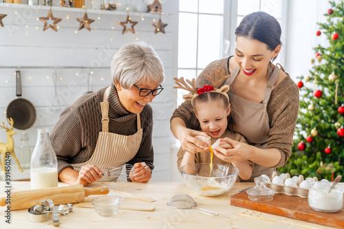 Billede på lærred Cooking Christmas cookies