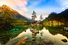 The 16-hectare Hintersee Is Lo...