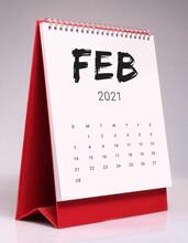 Simple Desk Calendar 2021 - February