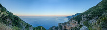 Panoramic View Of Amalfi Coast...