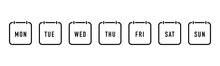Week Calendar Flat Icon. Vector
