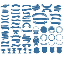 A Collection Of Various Ribbon...