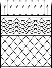 Wrought Iron Gate M_2001009