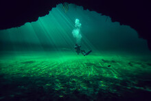 Diving In The Cenotes, Mexico,...