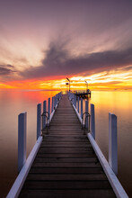 Sunset On The Pier At Safety B...