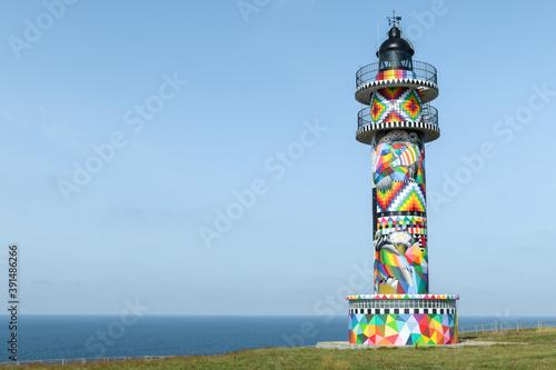 Lighthouse of Ajo Cape, Cantabrian Sea, Cantabria, Spain