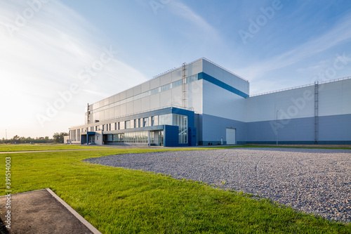 Fototapety, obrazy: building of a modern industrial enterprise. Summer, blue sky