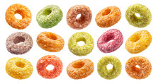 Colorful Corn Rings Isolated O...