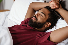 Tired Young African-american Man Sleeping