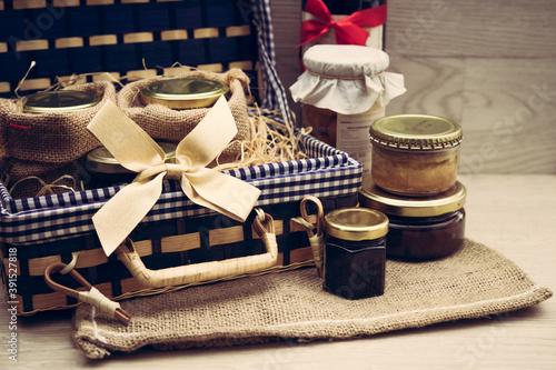 Fotografía Coffret cadeau de produits gourmands