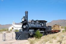 Old Steam Train In The Arizona Desert