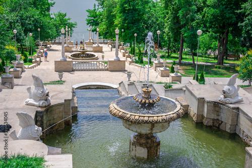 Canvas Print Cascading fountains in Chisinau, Moldova