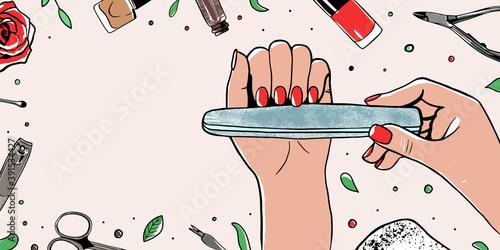Fotografia, Obraz Female manicured hands