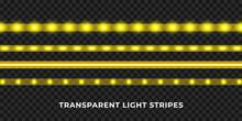 Yellow LED Strips Set. Colorfu...