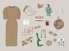 Vector Set Of Holiday Icons: C...