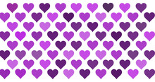 Seamless Pattern With Pink And Purple Hearts