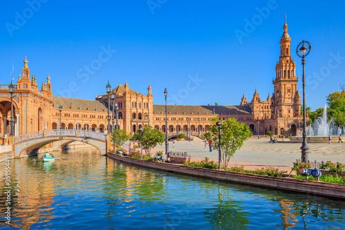 Foto Spain square, Seville, Spain